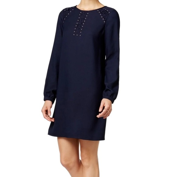 Jessica Simpson Navy Studded Shift Dress Size 14